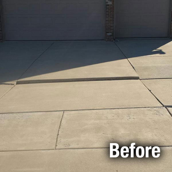 Concrete Driveway Leveling Before
