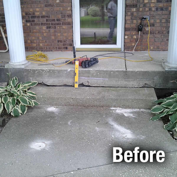 Maryville Concrete Step Repair - Before