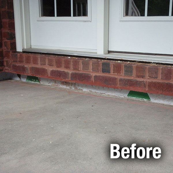 Concrete Porch Leveling Before
