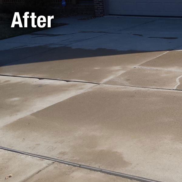 Concrete Driveway Leveling After
