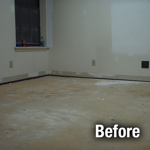Maryville Concrete Floor Leveling - Before