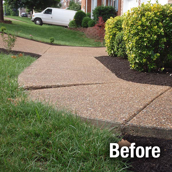 Maryville Concrete Sidewalk Leveling - Before